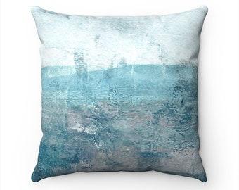 Turquoise Pillow Covers, Beach Decor, Coastal Home Decor, Cushion Cover, Decorative Throw Pillow Cover, Pillow Covers 18 x 18, Couch Pillows