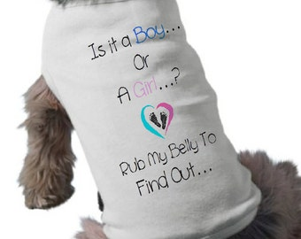 Baby Gender Reveal Dog T-Shirt - I'ts A Girl Dog Shirt - Pregnancy Announcement Pet Shirt - Pet Graphic Tee