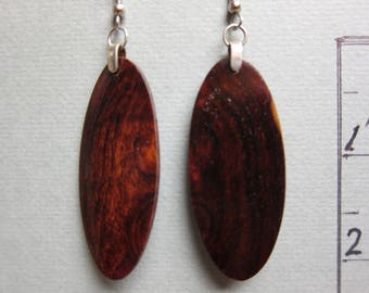 Rare Narra Root wood Deep Rich Color Earrings Exotic Wood ExoticWoodJewelryAnd handcrafted ecofriendly