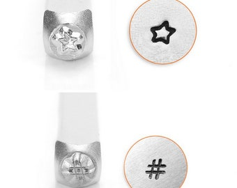 Destash New Fun Star or Hashtag Design ImpressArt Stamp 3mm - star stamp - metal stamp - hashtag stamp - fun star stamp