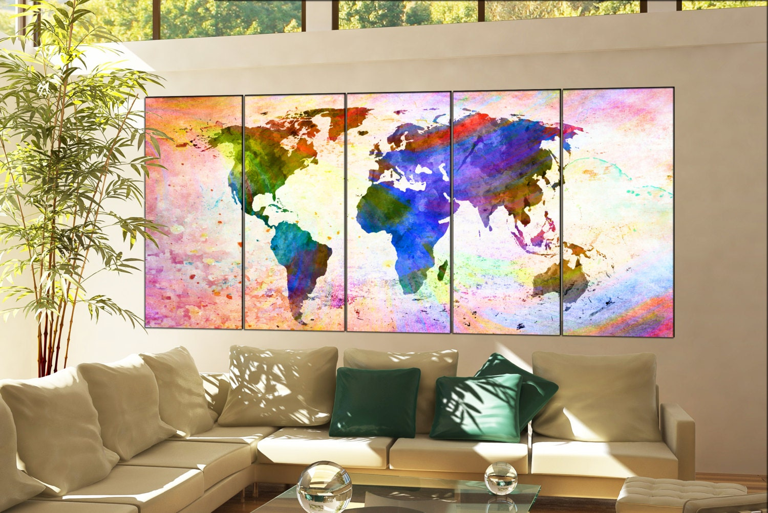 Wall art world map print on canvas wall art wall art world map print wall art world map print on canvas wall art wall art world map print decor artwork wall art world map print wall art home decoration 5 panel gumiabroncs Images