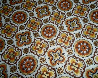 True Vintage Cotton Fabric, with Gold Metalic Print