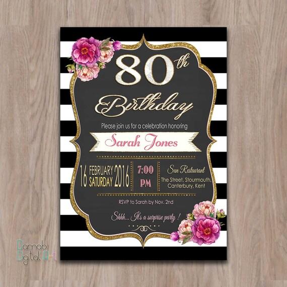 invitaciones de cumplea u00f1os 80 a u00f1os 80 invitaciones de fiesta