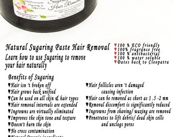Sugaring paste natural hair removal - thicker hair, Body Sugaring, sugaring wax, sugar paste, sugar hair removal, natural sugaring 16 oz