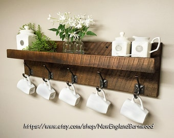Floating Shelves, Floating Shelf, Coat Rack Wall Mount, French Country  Decor, Wall
