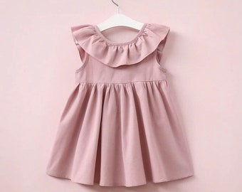 Girls sleeveless ruffled dress