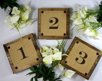 Wedding Rustic Table Numbers - Reception Table Numbers - Wedding Center Pieces - Table Numbers For Wedding - Table Number Ideas - Numbers
