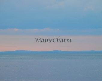 Pastel Sunset, Maine Photography, Art Print, Abstract Print, Nautical Decor