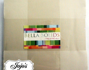 Bella Solids Layer Cake Wheat/Natural by Moda Fabrics SKU 9900LC 12