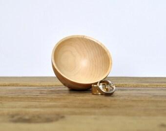 Ring Bowl - READY TO SHIP - Maple - Woodturning - Lathe - Jewelry dish