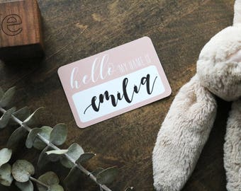 custom calligraphy 'hello my name is' sticker | CHOOSE YOUR COLOR! | baby introduction | baby name announcement | newborn sticker | gender