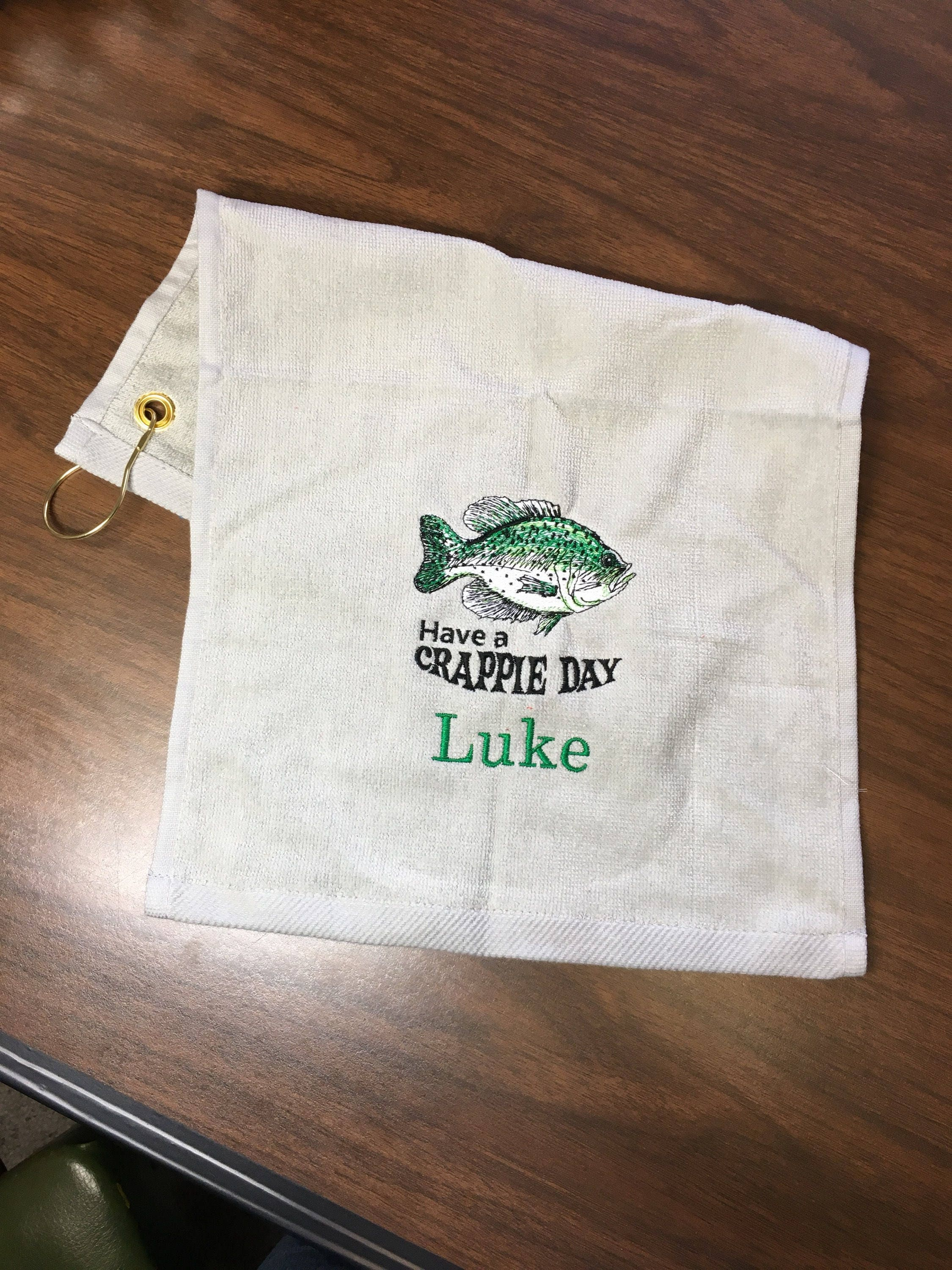 Retirement Gift Fishing Towel Personalized Embroidered