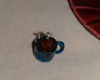 Polymer clay, coffee, charm