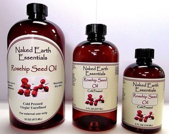 100% Rosehip Seed Oil Cold Pressed Virgin Unrefined Naked Earth Essentials