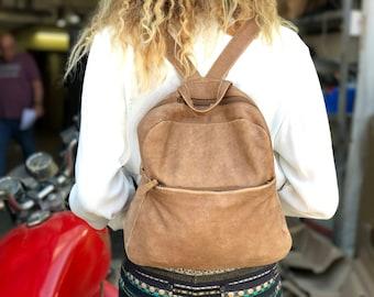 Sale!!!  Brown leather backpack purse leather Rucksack bag women leather bag women's Rucksack handmade Backpack - Batia Bag