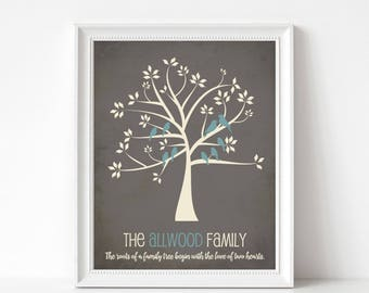 Adoption gift print adoption sign personalized family art adoption gift print personalized family tree for adopted child custom gift for adoptive mom and dad many sizes colors negle Choice Image