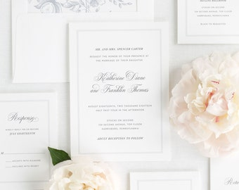 Simply Classic Wedding Invitations - Sample