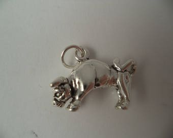 STERLING SILVER 3D Taurus Horoscope Charm for Charm Bracelet