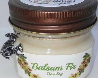 Balsam Fir Decorated Small Mason Jar