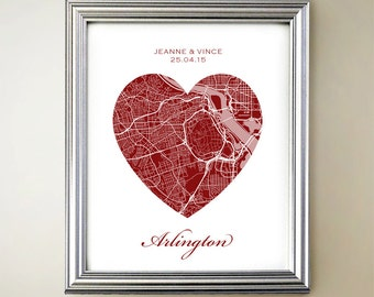 Arlington Heart Map