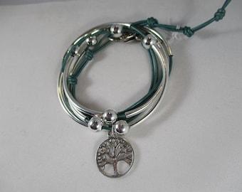 leather celtic bracelet celtic jewelry tree of life bracelet irish jewelry irish bracelet celtic wrap bracelet celtic leather bracelet