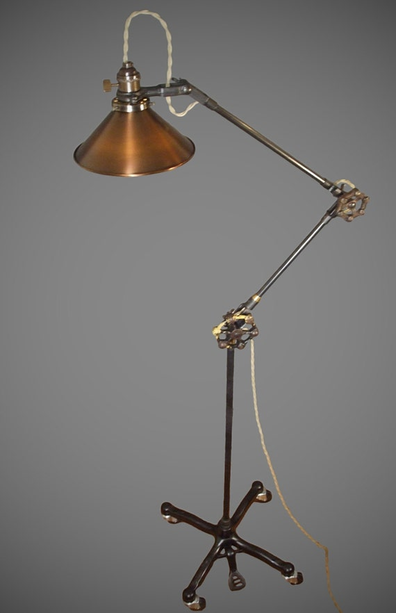 Brass Floor Lamp Etsy