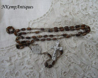 1930's glass rosary