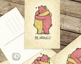 Bear Hugs - Postcard