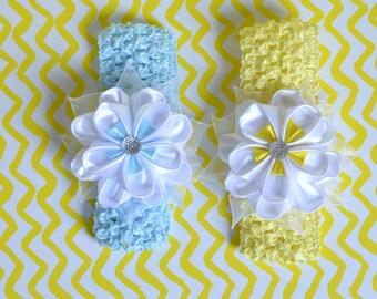 Floral Headband with Kanzashi Flower