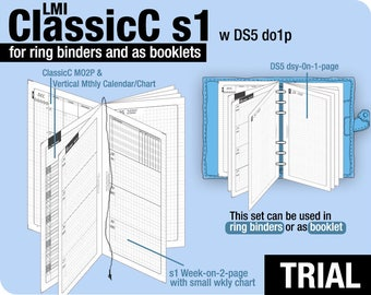 Trial [PERSONAL ClassicC S1 with DS5 do1p] July to September 2018   - Filofax Inserts Refills Printable Binder Planner Midori.