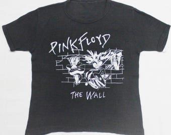 VINTAGE 1980 PINK FLOYD the wall rock metal tour concert promo t shirt