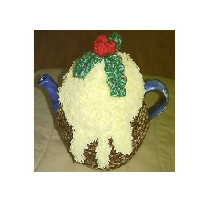 CHRISTMAS PUDDING Knitting Pattern, 2 Styles of Xmas Pudding Tea ...