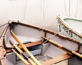 Fine Art Photograph - Rowing Boats - Pick your print size - Unique Decoration - Beach House - Sailing Theme