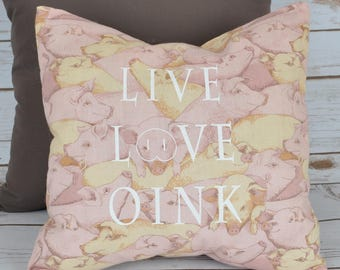 Pillow Cover- Pig Print