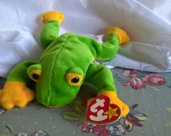 Vintage Beanie Baby Smoochy The Frog