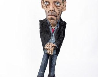Doctor House paper mache figure