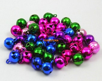 100Pcs 10mm Mix Color Bells Jingle Bells Charm Bead (CSLD10)