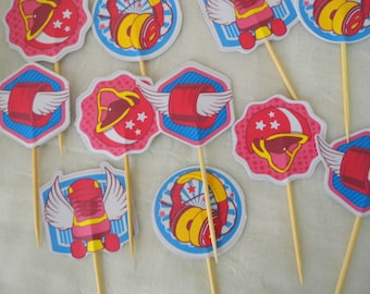 """Mignardise """"soy luna"""" or cupcake toppers"""
