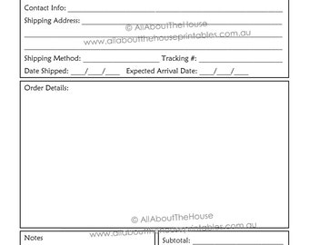 printable order forms vatoz atozdevelopment co