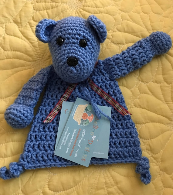 Blue Mini Bear Rag Doll Toy/Lovey