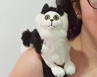 custom colored cat puppet