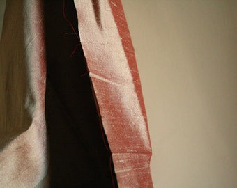 SILK FABRIC / salmon pink / pure silk