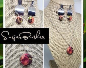 Fabric Jewelry set. SugarBushes