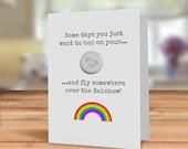 Unicorn badge card, custo...