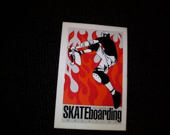 Skateboarding Magazine Sticker