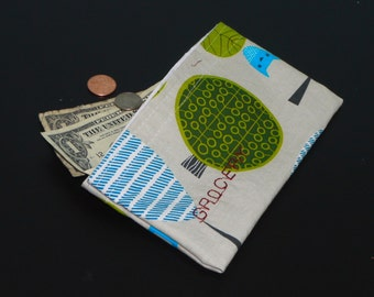 Cash Money Pouch. Completely Customized.  Recycled and Reusable.