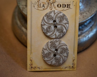 Buttons, Reproduction of Vintage Pair of Buttons