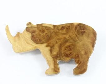 Wood Brooch - Australian York Gum Burl Wood Brooch - Hand Made in Australia