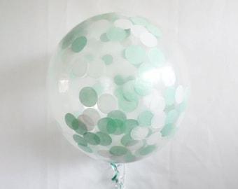 Mint Birthday, Mint Birthday Decorations, Mint Green Birthday, Confetti Balloons, Mint Baby Shower, Mint Party Décor, Mint Green Decorations