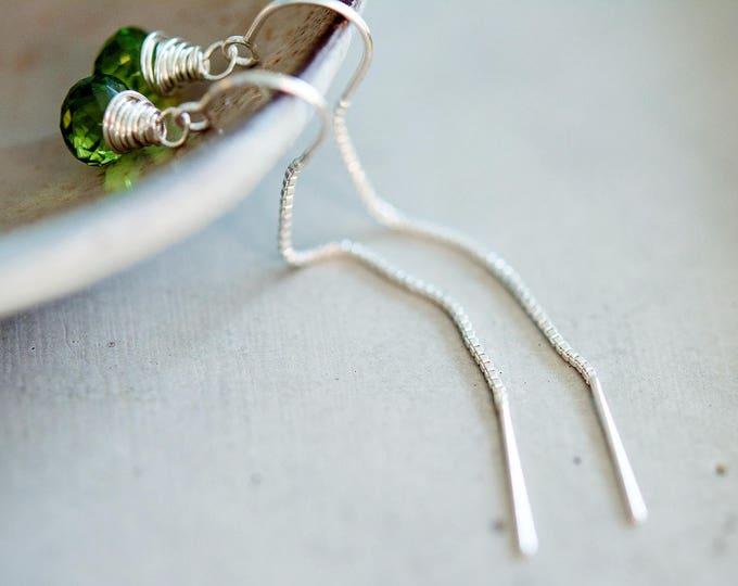 Peridot Earrings, Peridot Jewelry, August Birthstone Earrings